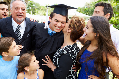 Happy Family Celebrating a Graduate